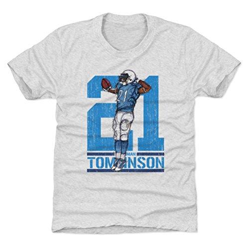 500 LEVEL LaDainian Tomlinson San Diego Chargers Youth Shirt (Kids Medium (8Y), Tri Ash) - LaDainian Tomlinson Sketch 21 Flip L ()