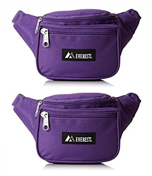 Everest Signature Waist Pack - Standard, Black, One Size EVFDS 044KD-BK