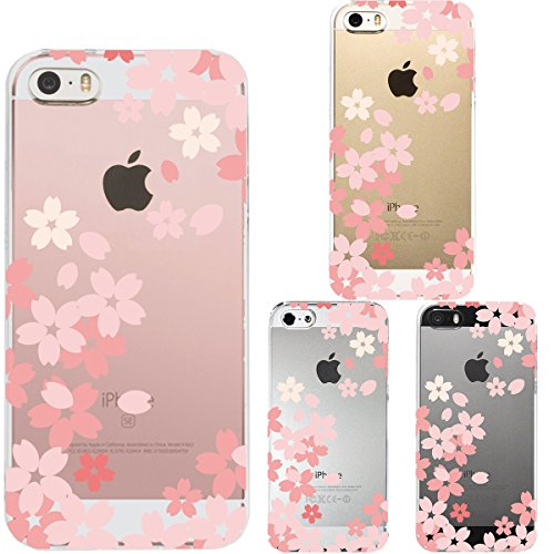Iphone Se Iphone5s /5 Shell Case Anti-Scratch Clear Back for Iphone Se Iphone 5s /5 Floral Cherry Pink