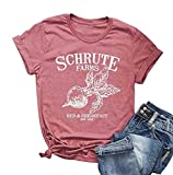 Schrute Farms Shirt Women Cute Graphic Tees Retro Shoort Sleeve Funny T-Shirt Tops