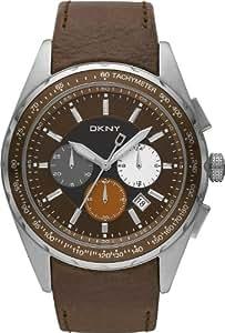 DKNY NY1487 - Reloj para hombres, correa de cerámica color plateado