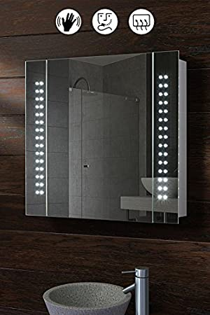 My Furniture Led Illuminated Bathroom Cabinet Mirror With