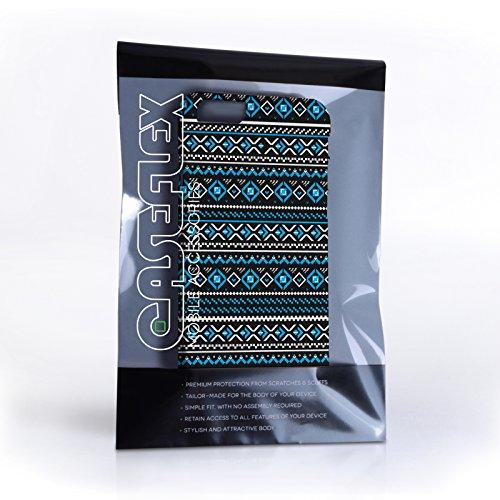 Caseflex iPhone 6 / 6S Hülle Blau / Schwarz Fair Isle Aztekisch Hart Schutzhülle