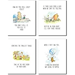 Winnie the Pooh Classic Art Prints - Set of Four (8x10 - Set of Four Prints)