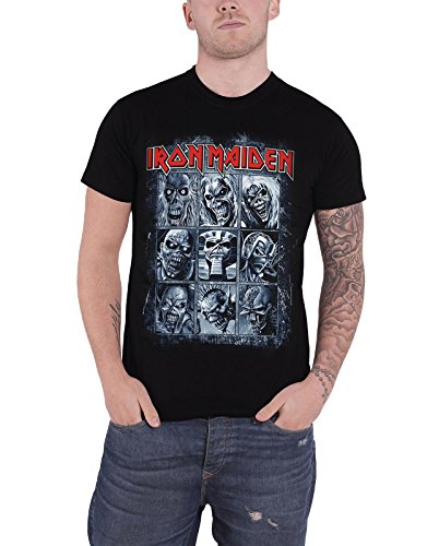 (Iron Maiden T Shirt band logo Nine Eddies book of souls Official New Black)