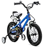 Royalbaby Freestyle Kid's Bike for Boys and Girls, 12 14 16 inch with Training Wheels, 16 18 inch with Kickstand, in Blue Red Orange Pink Green White