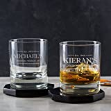 Personalized Whiskey Glass/Personalized Whisky Tumbler/Custom Engraved Whisky Glasses/Whiskey Gift Ideas/40th Birthday Glass