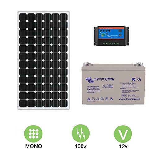 Kit solar autonome 100W–12V Monokristallines