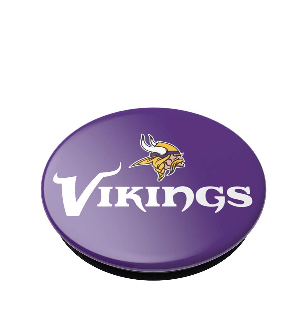 Minnesota Vikings Logo PopGrip with Swappable Top for Phones /& Tablets NFL PopSockets