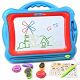 Tomons Magnetic Drawing Board,Colorful Doodle Board, Erasable Sketching Pad for Toddlers(Big Size)