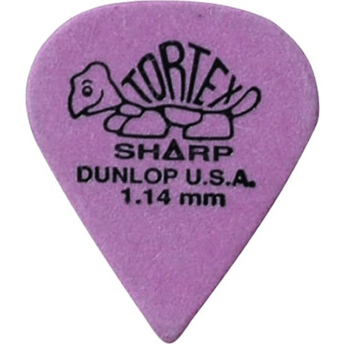 Dunlop Tortex Sharp Guitar Picks 1.14mm Purple 72 - Pick Purple Guitar