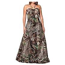 Angel Bride A-Line Halter Floor Length Camo Prom Dresses Holiday Dresses Long