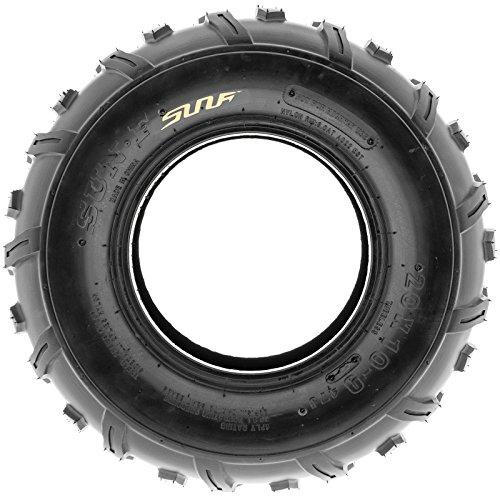 Set of 2 SunF 20x10-9 20x10x9 ATV UTV Knobby Rear Tire 4 Ply A022 by SunF (Image #2)