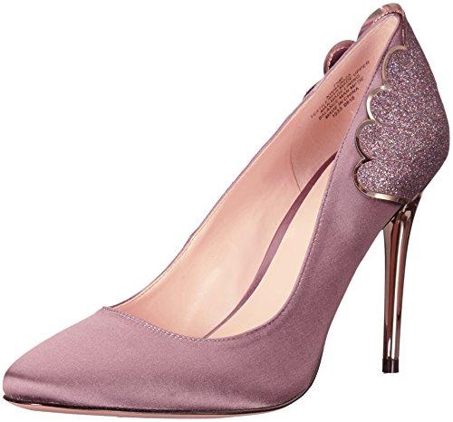 Pumps West Satin Nine (Nine West Women's Rainiza Satin Dress Pump, Purple Glitter, 8 M US)