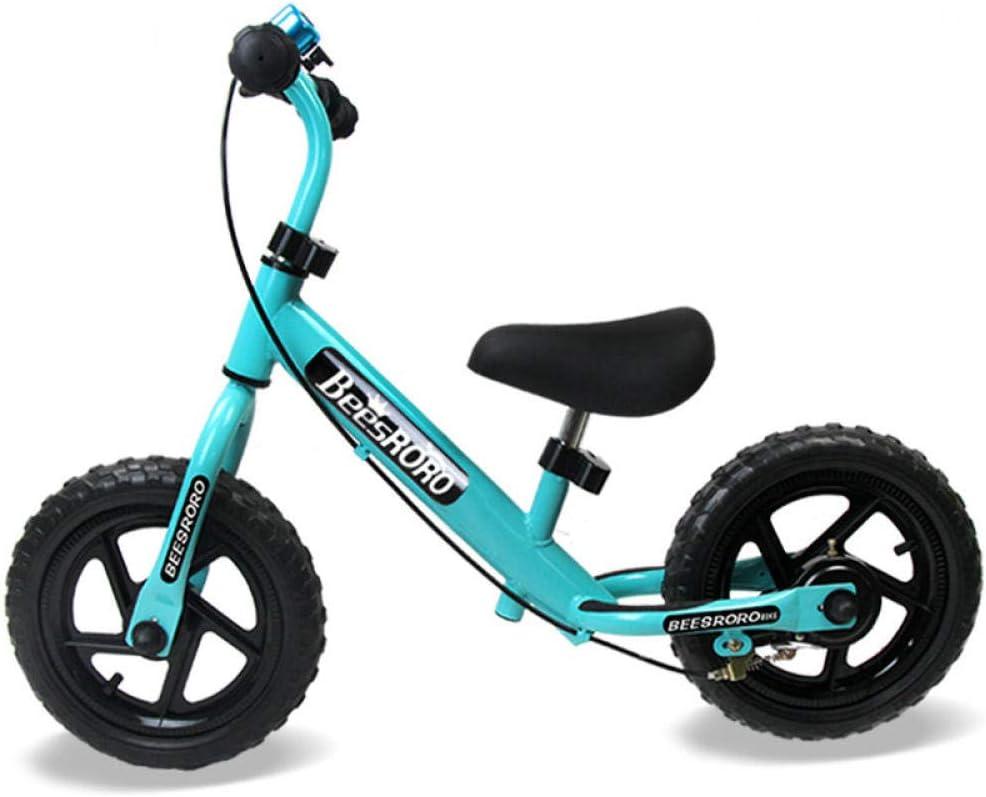 YSCYLY Bicicleta Infantil Estudio,12 Pulgadas con Freno de Mano Marco de Acero de Alto Carbono y Rueda sólida de EVA,para El Primer Regalo De CumpleañOs para BebéS En Bicicleta