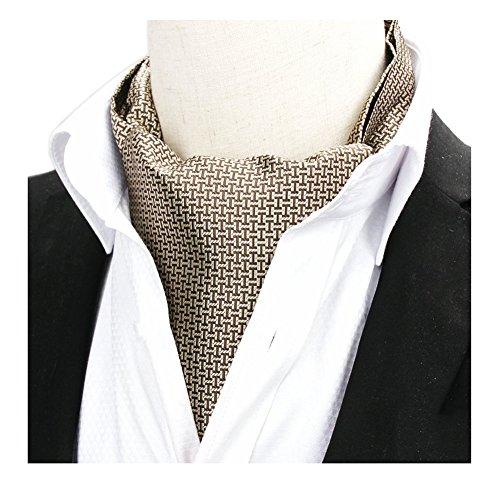 (Men's Bronze Silk Cravat Woven I Patterned Ascot Gentleman Neckwear Luxury Ties)