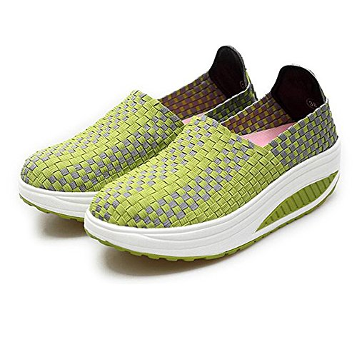 Summer Outdoor Casual Breathable Sports Shoes for Women - Green (Size 40) veNeY0
