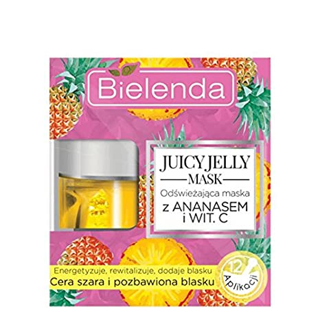Bielenda Juicy Jelly Mask - Máscara de piña y vitamina C (50 g)