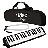 Rise by Sawtooth ST-RISE-MEL-37-BLK Piano Style Melodica, Black