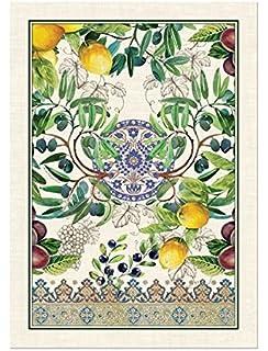 Amazon.com: Michel Design Works Lemon Kitchen Towel, Natural Woven ...