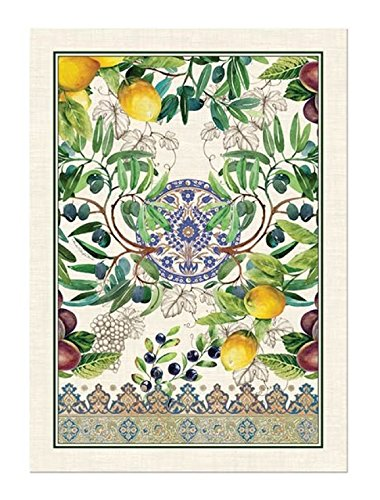 Beau Michel Design Works Cotton Kitchen Dish Towel, Tuscan Grove