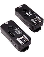 Vello FreeWave Fusion Pro Wireless Flash Trigger and Remote Control for Canon DSLRs - Canon EOS: Elan series, Digital Rebel (300D), XT (350D), XTi (400D), XSi (450D), T1i (500D), T2i (550D), T3 (1100D), T3i (600D), T4i (650D), T5i (700D), SL1 (100D) and XS (1000D), 60D & 70D 10D, 20D, 30D, 40D, 50D, 5D, 5D Mark II, 5D Mark III, 6D, 7D, 1D, 1D Mark II, 1D Mark II N, 1D Mark III, 1D Mark IV, 1Ds, 1Ds Mark II, 1Ds Mark III, 1D X and 1D C PowerShot G10, G11, G12, G15, G16 & G1 X