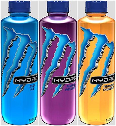 The Beast Monster Energy Hydro 25.4 ounce bottles (3 Flavor Variety Pack)