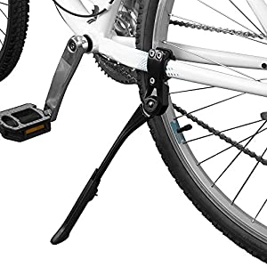 """BV Bike Kickstand Alloy Adjustable Height Rear Side Bicycle Stand, for Bike 24"""" 28"""""""