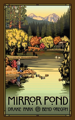 Northwest Art Mall Mirror Pond Drake Park Bend Oregon in Autumn Unframed Prints by Paul B Leighton, 11-Inch by ()