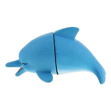 perfk Limpiador de Algas Acuario Peces Accesorios Herramineta Fácil Instalación de Pecera Elegante - Delfín: Amazon.es: Hogar
