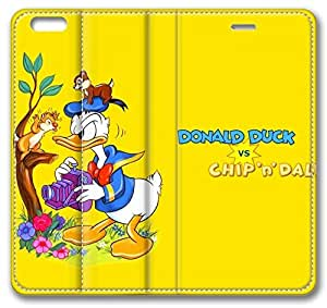 Cartoons Donald Duck iPhone 6 Case,Leather iPhone 6 Cover Case