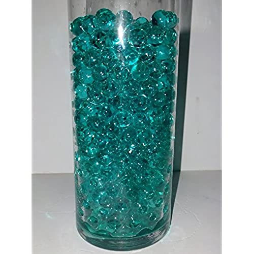 Water Beads for Wedding, Holiday, & All Occasion Home Decor - 10 Gram Pack  - Makes 1 Quart (4-5 Cups) (Totally Teal)