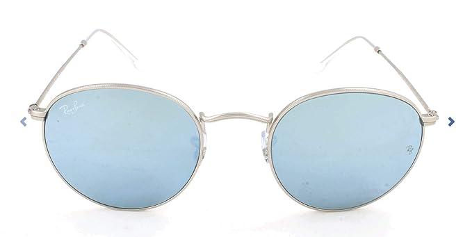 RAY-BAN RB 3447 Gafas de sol, Matte Silver, 50 para Hombre
