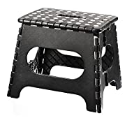 Home-it Super quality Folding Step Stool great for kids and adults 11 Inches. Black, holds up to 300…