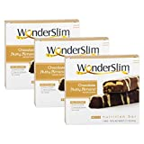 WonderSlim High Protein Meal Replacement Bar - High Fiber, Kosher, Chocolate Nutty Almond - 3 Box Value-Pack (Save 5%)