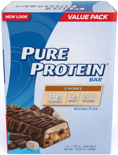 Pure Protein S'mores Value Pack 6-50 Gram Bars (24-bars) by Pure Protein