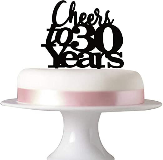 Brilliant Amazon Com Cheers To 30 Years Cake Topper 30Th Birthday 30 Birthday Cards Printable Opercafe Filternl