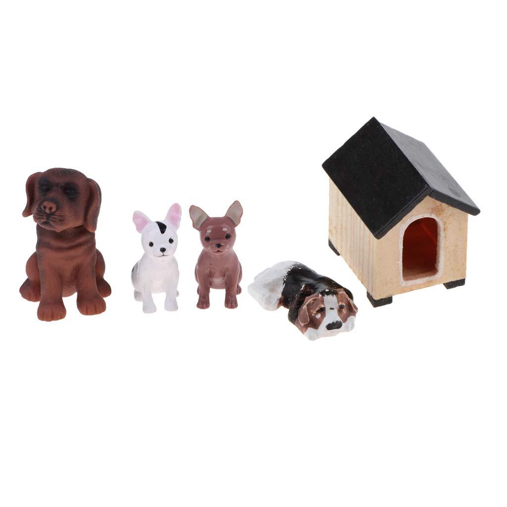 Amazon.es: P Prettyia Modelismo Mascotas Mini con Casera de Patios para Habitación de Muñecas 1/6: Juguetes y juegos