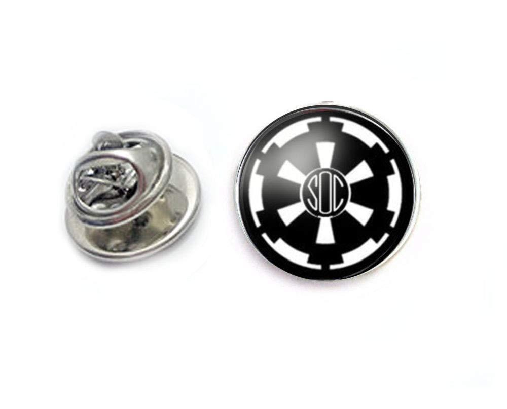 Handmade Personalized Tie Pin Galactic Empire Star Wars Monogram Tie Tack