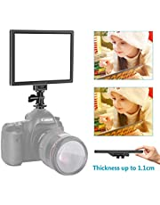 Neewer Camera/Camcorder Video Light LED Light Panel for Lighting in Studio or Outdoors, 3200K to 5600K Variable Color Temperature and Dimmable Light, Ultra Thin, T100 (Battery NOT Included)