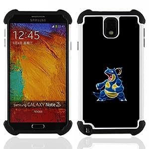 """SAMSUNG Galaxy Note 3 III / N9000 / N9005 - 3 en 1 impreso colorido de Altas Prestaciones PC Funda chaqueta Negro cubierta gel silicona suave (Ciencia divertida perra"""")"""