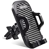Car Phone Mount, Air Vent Cell Phone Holder for Car Phone Holder Cradle Clip Stand with Adjustable Clamp Switch Lock Universal Compatible for i Phone XS/XS MAX/XR/X 8/8 Plus/7, Note 9/8/S8/S8 Edge/S7