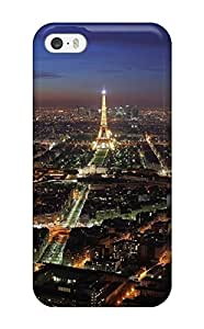 Fashionable HxAryXF6865wmNBY Iphone 5/5s Case Cover For Paris Night Lights Capital Beautiful Eiffel Nature Other Protective Case