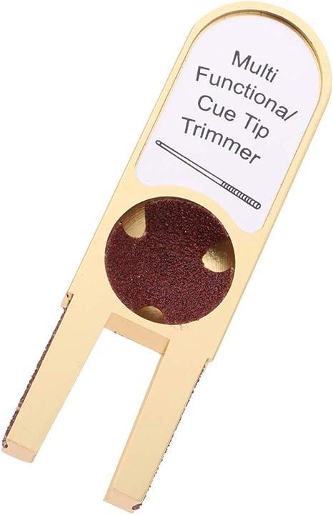 Injoyo Billar Pool Cue Tip Shaper Tool U Shape Cue Tip Trimmer Kit ...