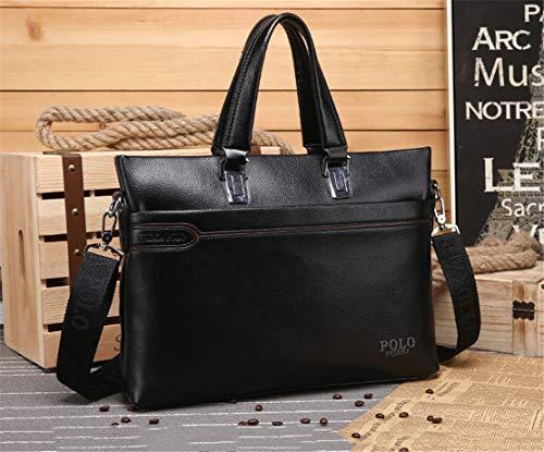 Resistente Trabajo Agua Negocio Bags Maletines Shoulder Layxi Hombre Al Grandes Casual Multiusos Negro Bandoleras Handbag Desgaste Ligero 0xqtAtTX
