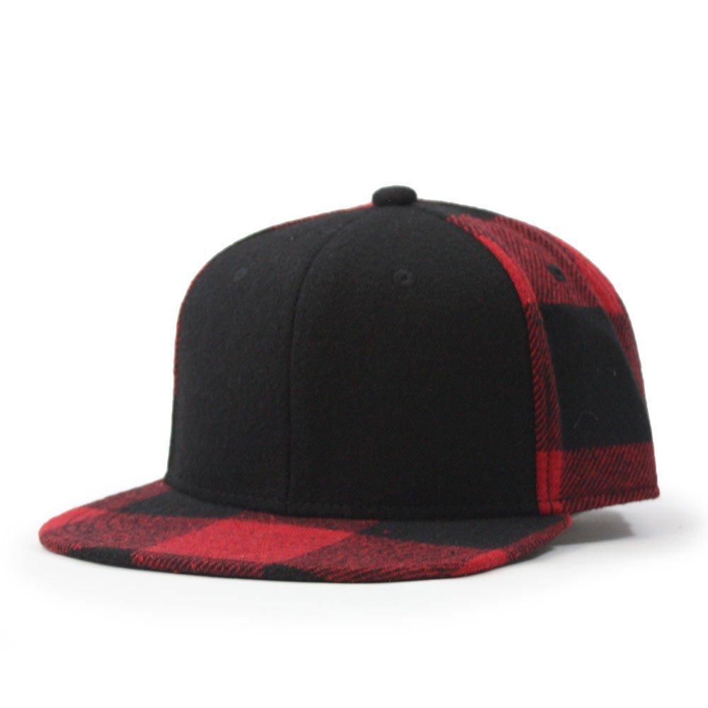 0e47520f2f Premium Wool Blend Plaid Adjustable Snapback Baseball Cap