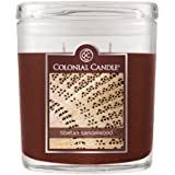 Colonial Candle 8-Ounce Scented Oval Jar Candle, Tibetan Sandalwood