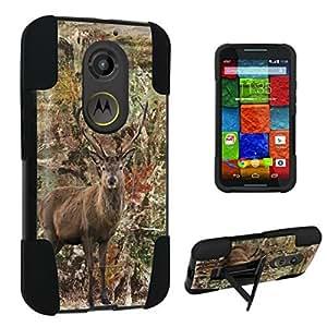 DuroCase ? Motorola Moto X 2nd Gen. 2014 Kickstand Bumper Case - (Hunter Deer Camo)