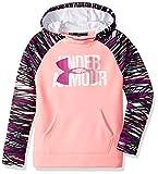 Under Armour Girls' Armour Fleece Big Logo Printed Hoodie, Pop Pink/Purple Rave, Youth Large