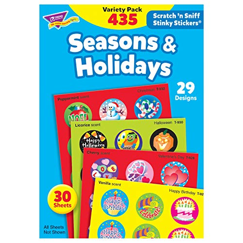 Trend T580 Stinky Stickers Variety Pack, Seasons/Holidays (Pack of 435) ()